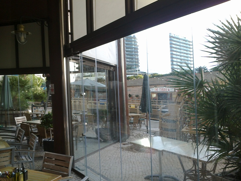 Glass Curtains, Steel Enclosure, Gibraltar